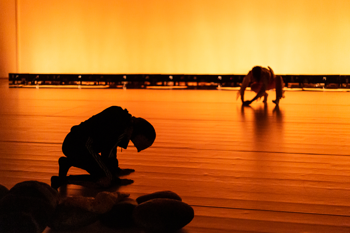 Photograph taken at performance of Spirit Compass at BALTIC Centre for Contemporary Art, 2019.