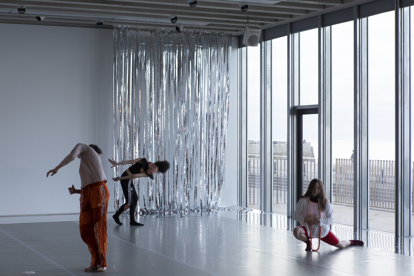 Performance photograph of Spirit Compass at Turner Contemporary, Margate. Photo by Stuart Leech.